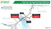 Entraves sur le pont Honoré-Mercier... (ILLUSTRATION FOURNIE PAR LE MTQ) - image 1.0