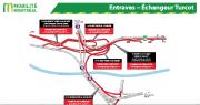 Entraves à l'échangeur Turcot... (ILLUSTRATION FOURNIE PAR LE MINISTÈRE DES TRANSPORTS) - image 6.0