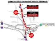 Le tronçon de l'autoroute15 Nord qui traverse l'échangeur... (illustration fournie par le ministère des Transports) - image 1.1