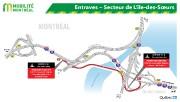 Entraves dans le secteur de l'Île-des-Soeurs.... (Illustration fournie par le ministère des Transports.) - image 2.1