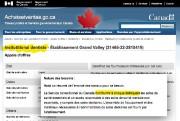 La version française du site d'appel d'offres... (Capture d'écran La Presse) - image 2.0