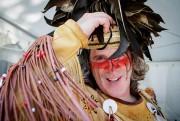 Steeve Gros-Louis, de la troupe de danse traditionnelle... (Photo Alain Roberge, La Presse) - image 2.0