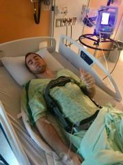 Antoine Valois-Fortier a été opéré dimanche pour soigner... (Photo tirée de Facebook) - image 2.0