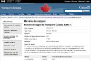 Le site des rappels de Transport Canada contenant... - image 2.0