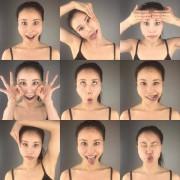 Différents exercices de Face Yoga démontrés par Koko... (Photo fournie parSkin Fit Gym) - image 1.1
