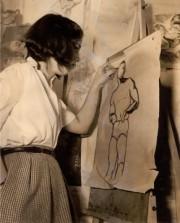 Dorothea Rockburne, 15 ans, dans une classe d'art... (PHOTO FOURNIE PAR LE DOROTHEA ROCKBURNE STUDIO) - image 2.0
