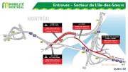 Entraves dans le secteur de L'Île-des-Soeurs... (Infographie fournie par le MTQ) - image 1.1