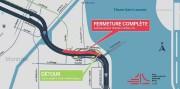 Fermeture complète de l'autoroute Bonaventure en direction du... (Image fournie par le MTQ) - image 1.1