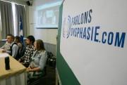 Des adultes dysphasiques ont imploré hier les partis... (Photo François Roy, La Presse) - image 1.0