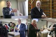 Les chefs des quatre principaux partis ont voté... (Photos La Presse et La Presse Canadienne) - image 1.0