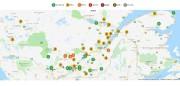 La carte interactive indique l'avancement du changement de... (Capture d'écran tirée du site internet Québec Original) - image 1.0
