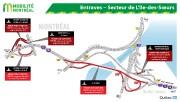 La circulation sera réduite à une seule voie par direction sur le pont Mercier... - image 2.0