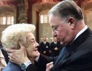 Bernard Landry avec sa mère lors de son... (Photo archives La Presse) - image 8.0