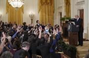 La conférence de presse du président des États-Unis... (PHOTO MANDEL NGAN, AGENCE FRANCE-PRESSE) - image 1.0