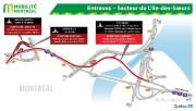 De fermetures d'autoroute sans... (image fournie par mobilité montréal) - image 3.1
