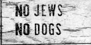 Pancarte antisémite présente à Sainte-Agathe jusqu'à la fin... (IMAGEFOURNIE PAR LA Fondation pour l'étude des génocides) - image 1.1