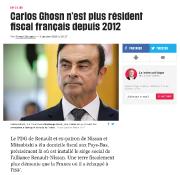 L'article du quotidien Libération sur la résidence fiscale... (Photo : site internet de Libération.) - image 1.0
