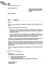 La lettre de congédiement de Louis Robert... - image 2.0