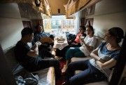 Les familles se regroupent dans les cabines, ici... (PHOTO FrédéricSÉGUIN, COLLABORATION SPÉCIALE) - image 2.0