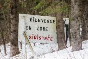 «Bienvenue en zone sinistrée».... (Photo Olivier PontBriand, La Presse) - image 2.0