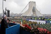 La foule s'est rassemblée à la place Azadi... (Photo fournie par la présidence iranienne via AFP) - image 2.0