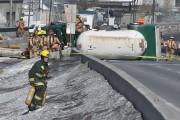 L'accident est survenu au kilomètre62 de l'autoroute15 Nord,... (PHOTO FRANÇOIS ROY, LA PRESSE) - image 2.0
