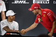 Sebastian Vettel (à d.) et Lewis Hamilton.... (PHOTO WILLIAM WEST, AFP) - image 4.0