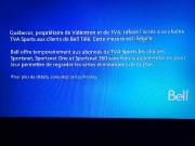 Le message affiché au poste de TVA Sports... (CAPTURE D'ÉCRAN) - image 2.0