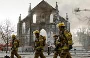 Incendie à la chapelle des Franciscains, àMontréal, enfévrier2010... (PHOTO ARCHIVES LA PRESSE) - image 3.0
