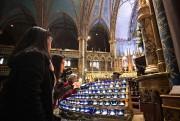 Environ 150personnes ont assisté, hier, à la basilique... (PHOTO PATRICKSANFAÇON, LA PRESSE) - image 11.0