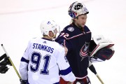 Le gardien des Blue Jackets Sergei Bobrovsky (à... (PHOTO AARON DOSTER, USA TODAY SPORTS) - image 2.0