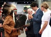 Dominique Rankin, guide spirituel algonquin, lors d'une cérémonie... (PHOTO ARCHIVES LA PRESSE CANADIENNE) - image 5.0