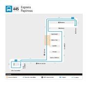 Le trajet de la nouvelle ligne445.... (IMAGE FOURNIE PAR LA STM) - image 2.0