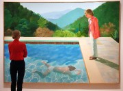 Le tableau Portrait of an Artist (Pool with... (PHOTO TIMOTHY A. CLARY, AFP) - image 2.0