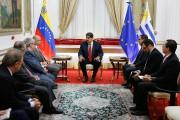 Le président Nicolas Maduro a annoncé jeudi vouloir... (PHOTO FOURNIE PAR LA PRÉSIDENCE VÉNÉZUÉLIENNE VIA AFP) - image 2.0