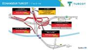 Entraves près de l'échangeur Turcot en fin de... (IMAGE FOURNIE PAR LE MINISTÈRE DES TRANSPORTS DU QUÉBEC) - image 2.0