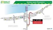 Entraves dans le secteur du pont Champlain en... (IMAGE FOURNIE PAR LE MINISTÈRE DES TRANSPORTS DU QUÉBEC) - image 3.1