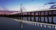 Esquisse du nouveau pont sur le Saint-Laurent fournie... (IMAGE FOURNIE PAR INFRASTRUCTURE CANADA, ARCHIVES LA PRESSE) - image 3.0