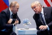 Vladimir Poutine et Donald Trump à Hambourg, le... (PHOTO EVAN VUCCI, AP) - image 3.0