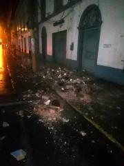 Cet édifice de Yurimaguas a été endommagé par... (PHOTO FOURNIE PAR LES POMPIERS VIA AFP) - image 3.0