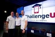Nicolas Arsenault (au centre), président de ChallengeU, aux... (PHOTO ANDRÉ PICHETTE, ARCHIVES LA PRESSE) - image 2.0