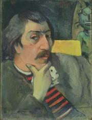 Autoportrait à l'idole, vers 1893, de Paul Gauguin... (PHOTO FOURNIE PAR LE MBAC) - image 3.0