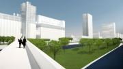Le projet de réaménagement du Vieux-Port inclurait un... (IMAGE FOURNIE PAR AVENIR VIEUX-PORT) - image 3.0