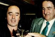 Georges Brossard en compagnie de Pierre Bourque, alors... (PHOTOPAUL-HENRI TALBOT, ARCHIVES LA PRESSE) - image 11.0