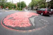 La forme du rond-point laisse perplexe.... (PHOTO DAVID BOILY, LA PRESSE) - image 2.0