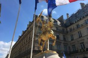 La statue équestre de Jeanne d'Arc, située place... (PHOTO TIRÉE DU COMPTE FACEBOOK DE L'ACTION FRANÇAISE) - image 2.0