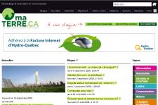Le site MaTerre.ca...