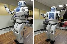 mahru le robot qui danse fait le m nage ou manifeste ses motions nouvelles. Black Bedroom Furniture Sets. Home Design Ideas