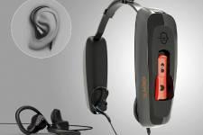 Le casque d'écoute Eers est livré en deux... (Photo fournie par Sonomax.)