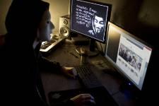 Anonymous est parvenu à faire apparaître sur ces... (Photo: AFP)